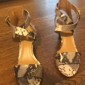 Almost new Nine West snake print wedge sandal